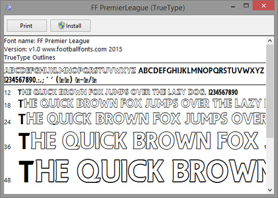premier league – Football Fonts