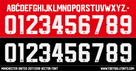 Manchester United | Football Fonts