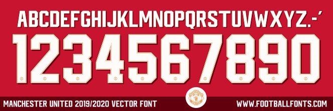 Manchester United 2019/2020 Cup Font (TTF/OTF & Vector