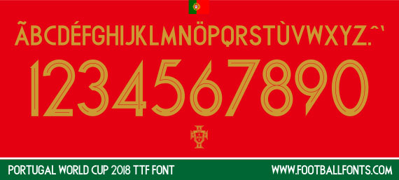 Portugal 2018 Font for World Cup 2018 (TTF) | Football Fonts