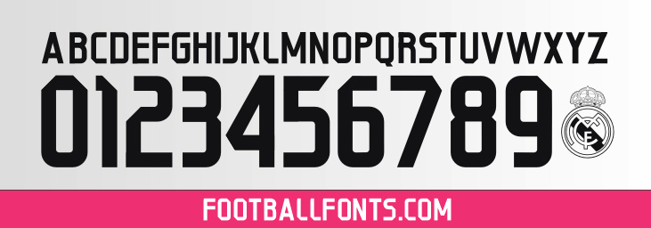 Real Madrid 2014/2015 Font TTF & Vector | Football Fonts