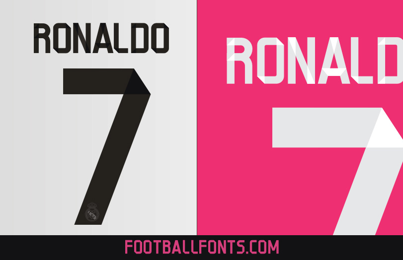 Real Madrid 2014/2015 Font – Vector Detail Preview